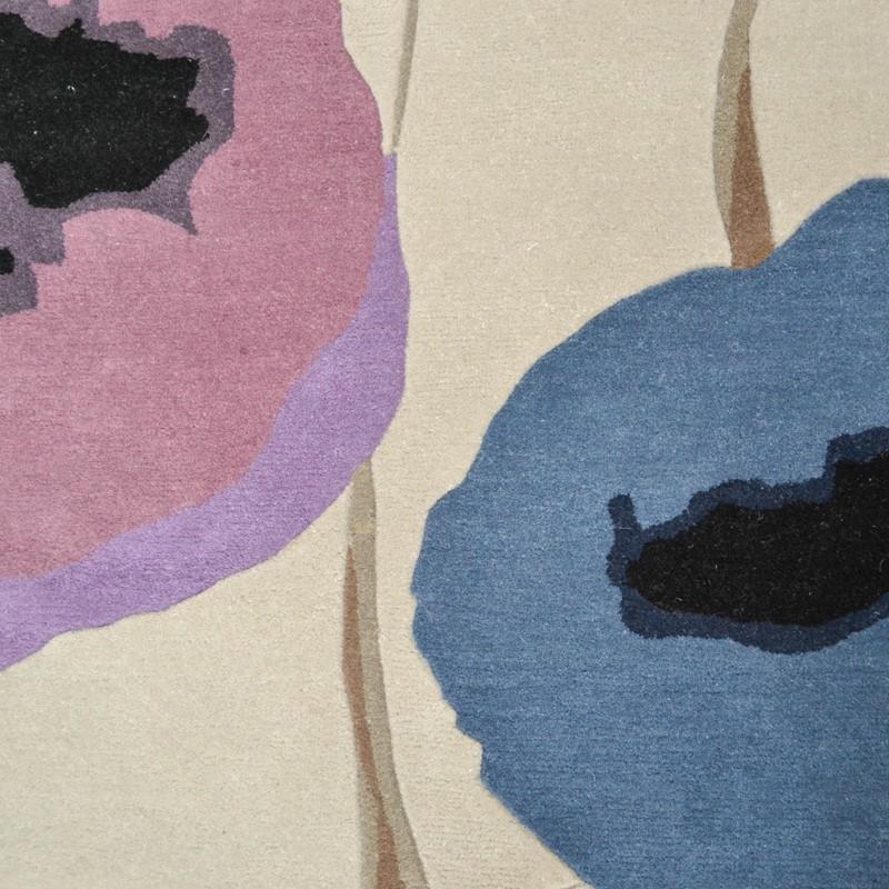 Sanderson Poppies Rugs 45705 Indigo Purple Buy Online From
