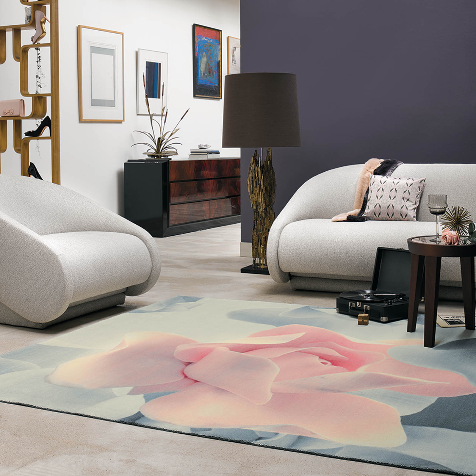 Porcelain Rose Rugs 57402 by Ted Baker