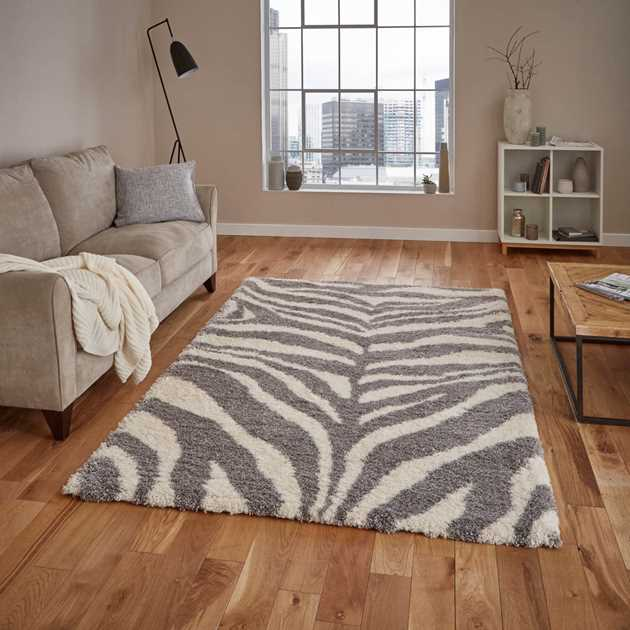 Portofino Rugs M289 in Ivory and Grey