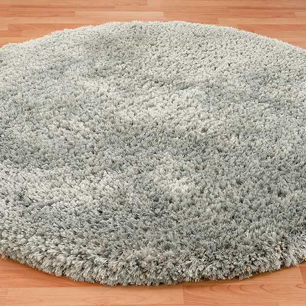 Revival Circlular Shaggy Rugs in Quarry