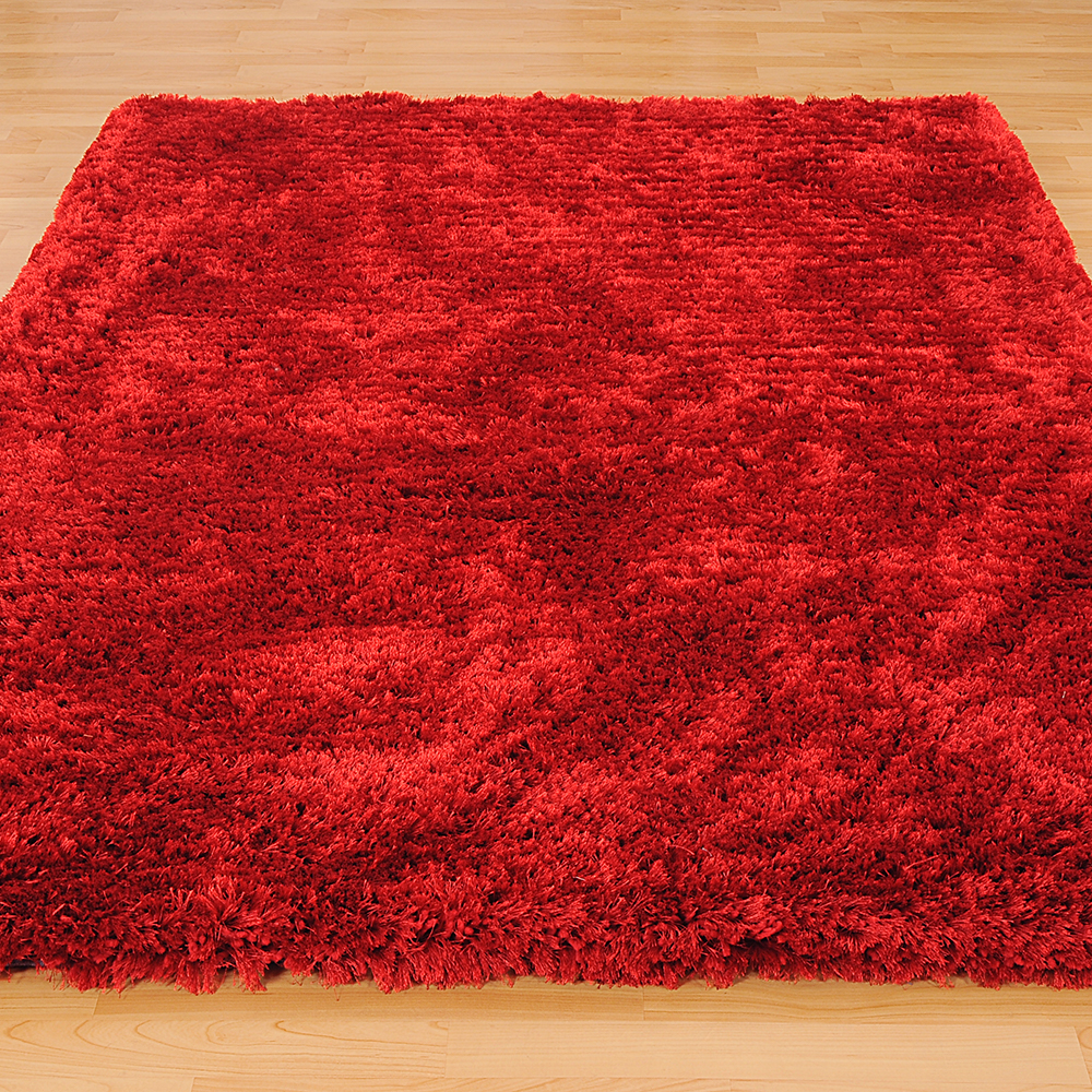 Revival Shaggy Rugs in Scarlet