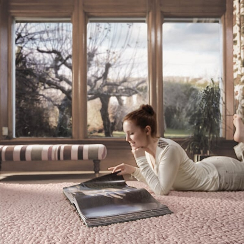Union Wool Rugs in Nude buy online from the rug seller uk