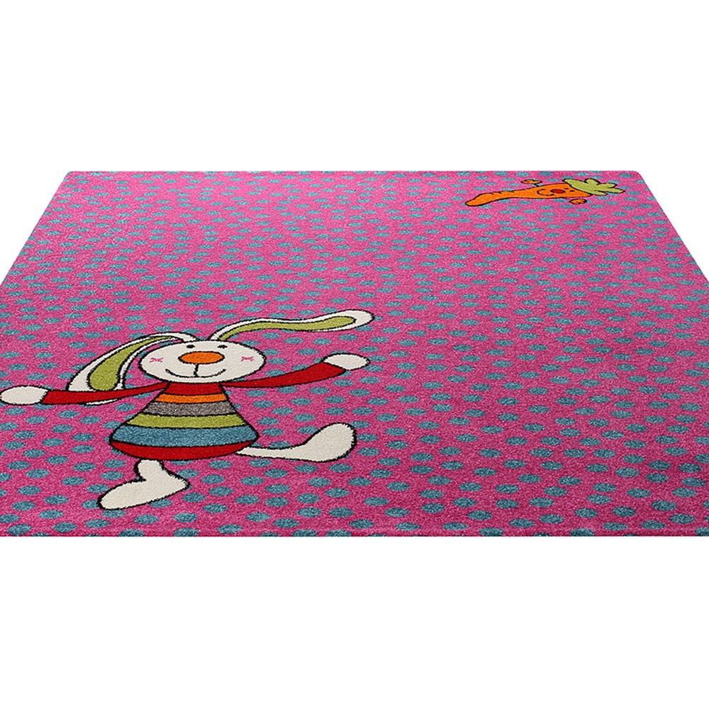 Rainbow Rabbit Rug In Pink 0523 03 Buy Online From The Rug