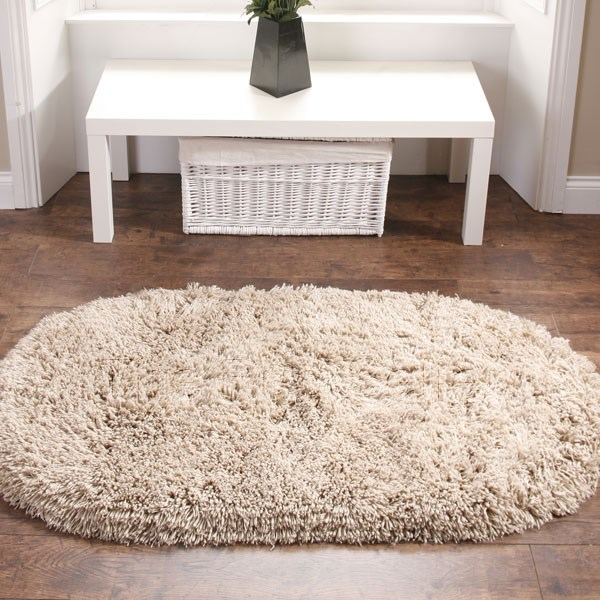 Rainbow Shaggy Washable Rugs In Beige Free Uk Delivery