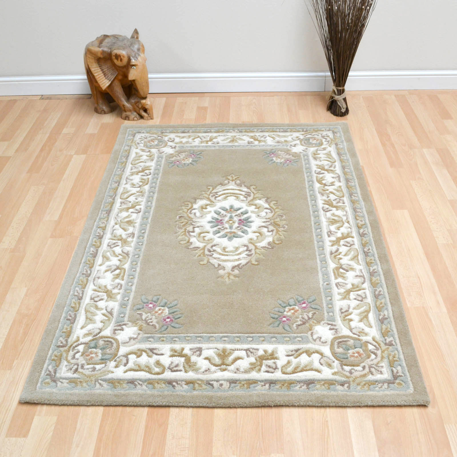 Rajbik Rugs in Beige