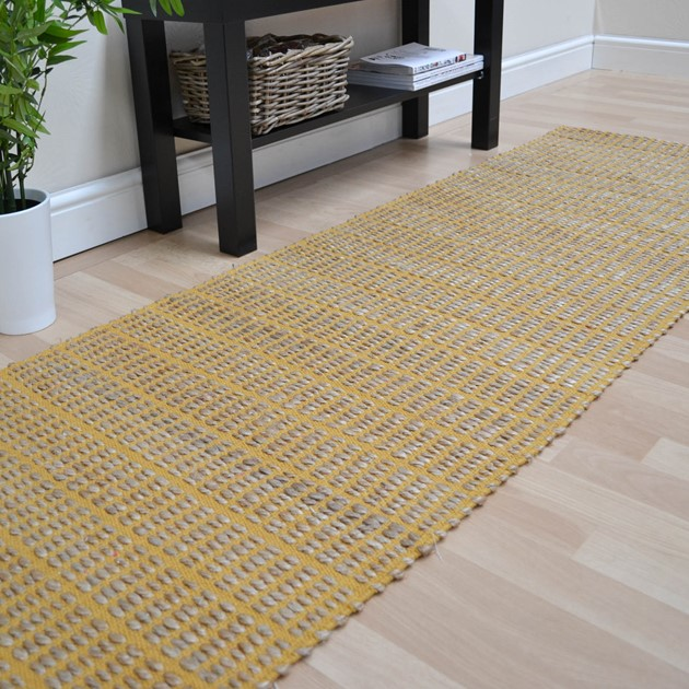 Ranger Hallway Runners In Mustard Free Uk Delivery The