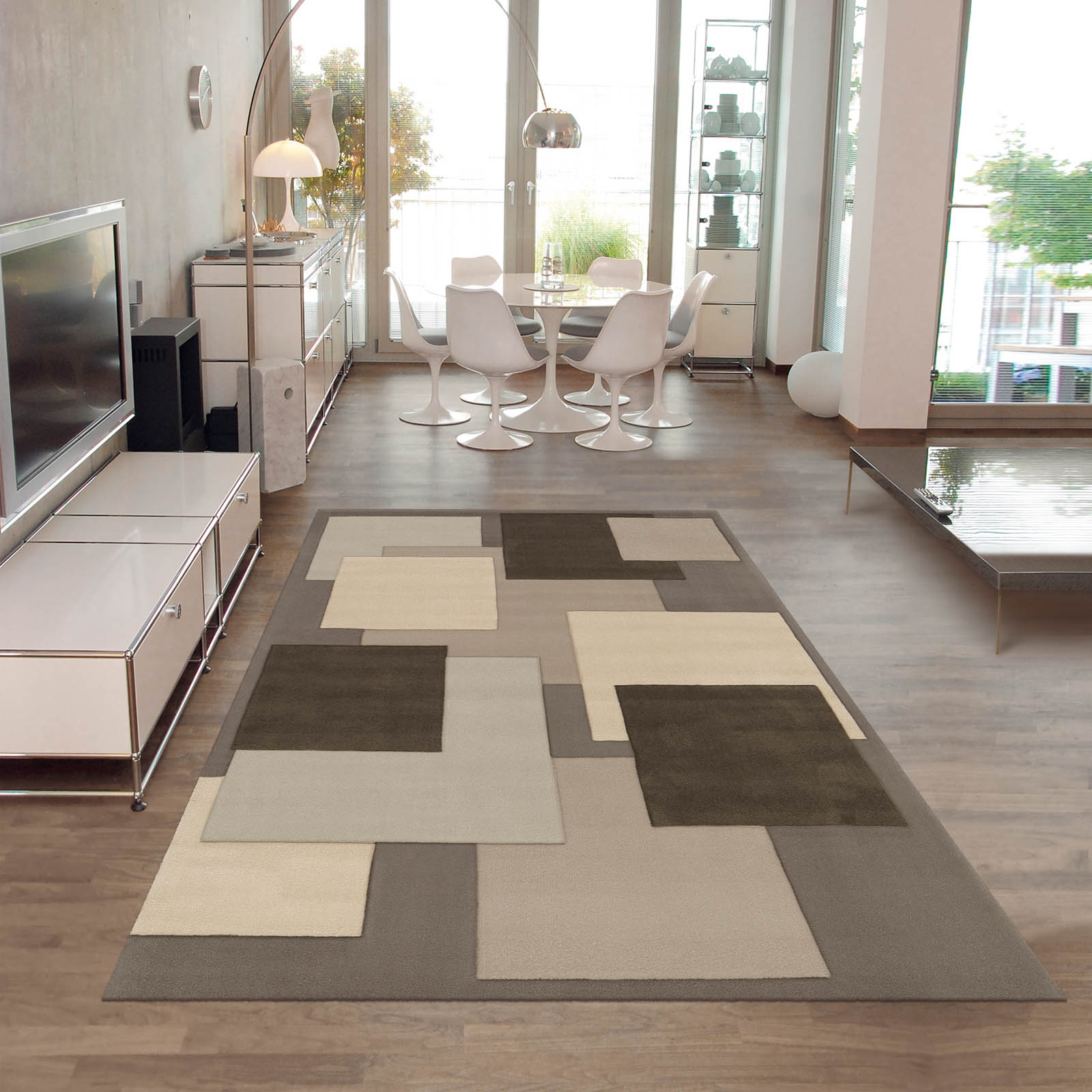 Reflective Rugs 646 90 in Grey