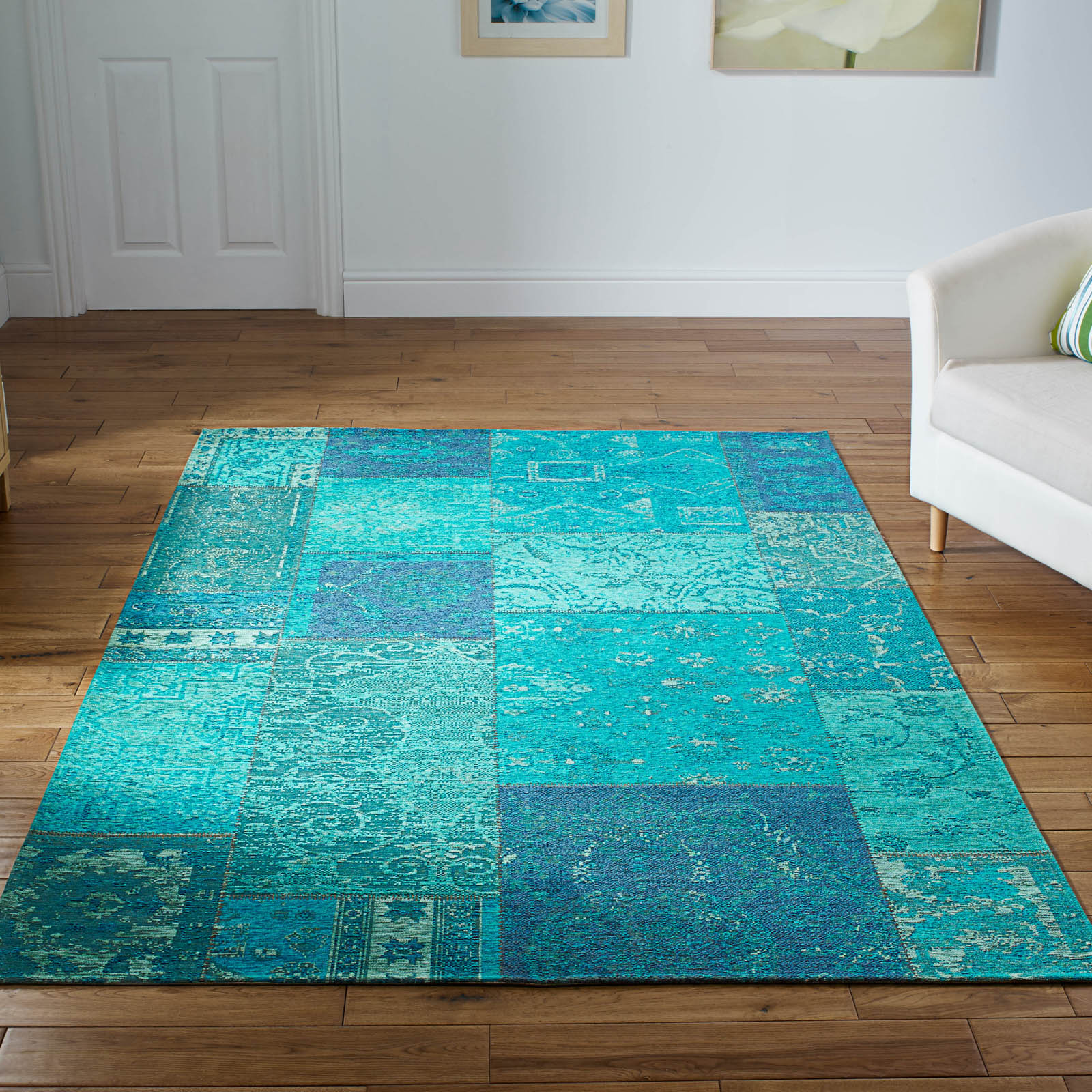 Renaissance Rugs 25 L in Turquoise