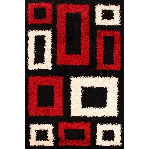 Retro Blocks - Black Red