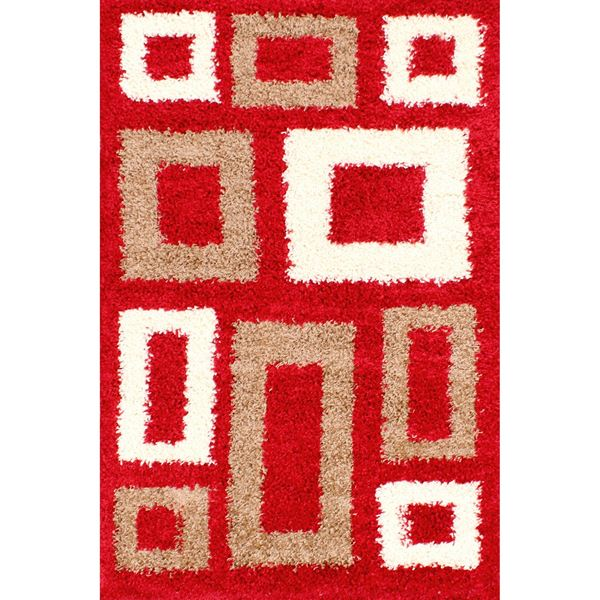 Retro Blocks - Red Ivory