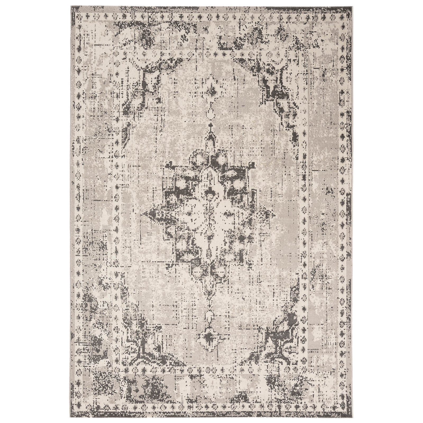 Revive Rugs RE02 in Grey