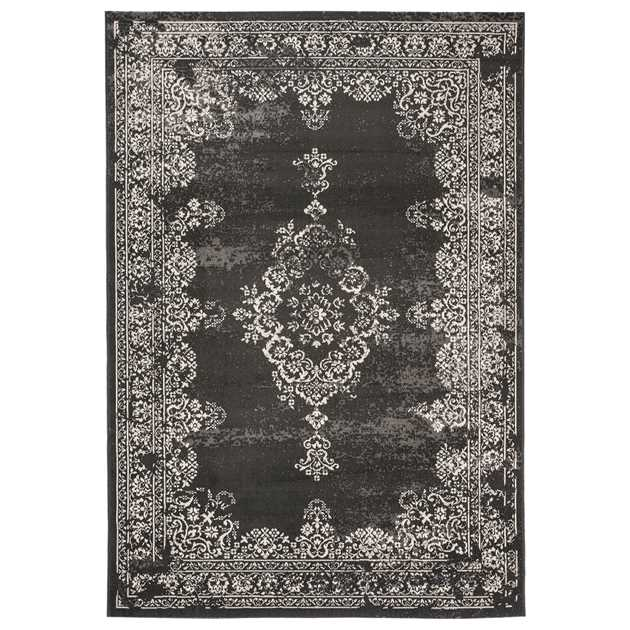 Revive Rugs RE03 in Charcoal