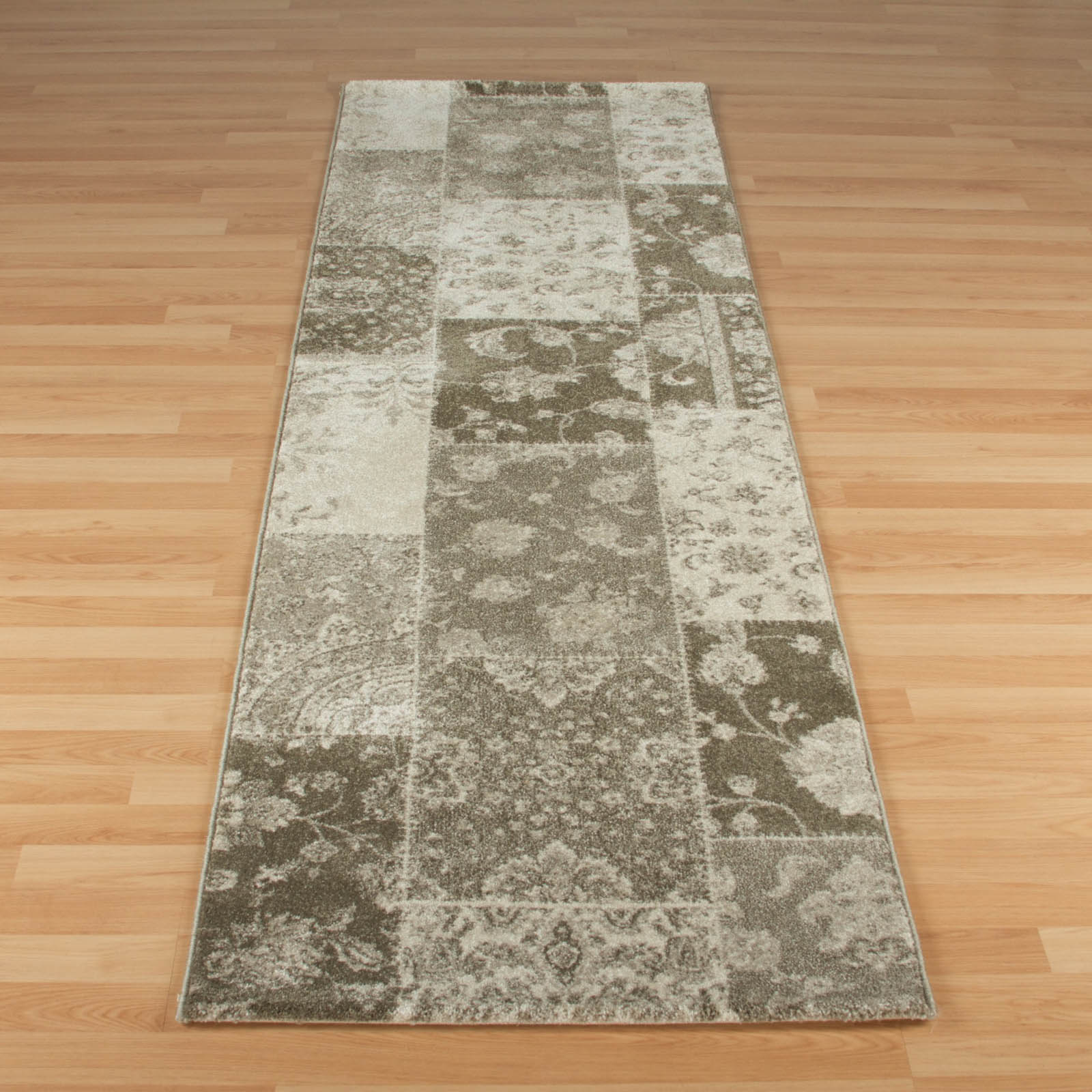 Richmond Hallway Runner 1338Y in Cream and Grey