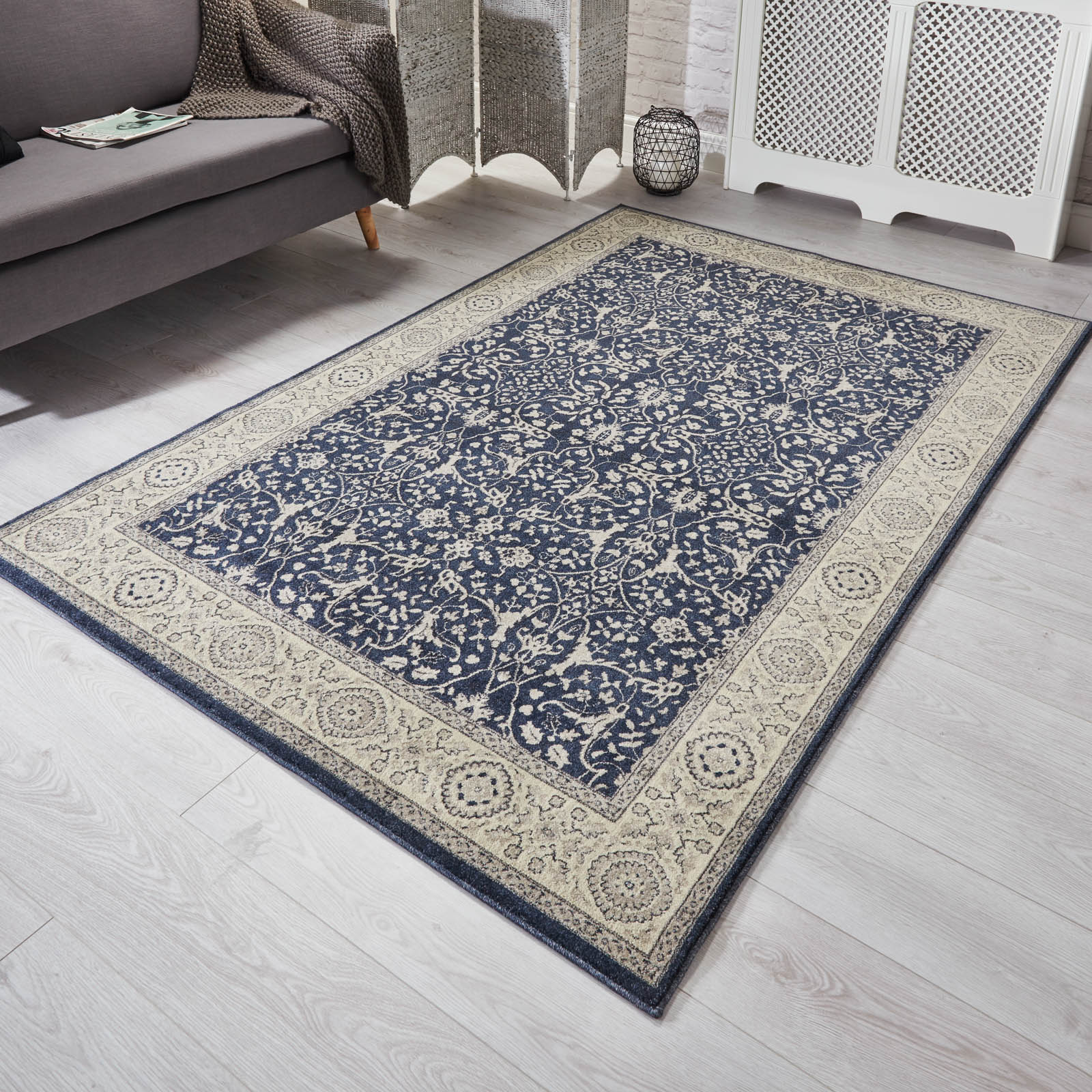 Richmond Rugs 1Z in Navy Blue