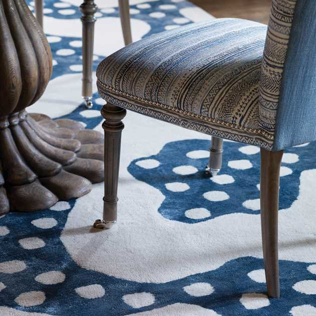 Riviere rugs in Marine by William Yeoward