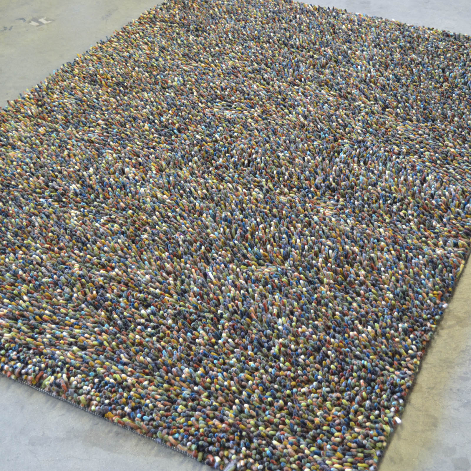 Brink And Campman Rocks Mix Shaggy Wool Rugs 70407 Citrine