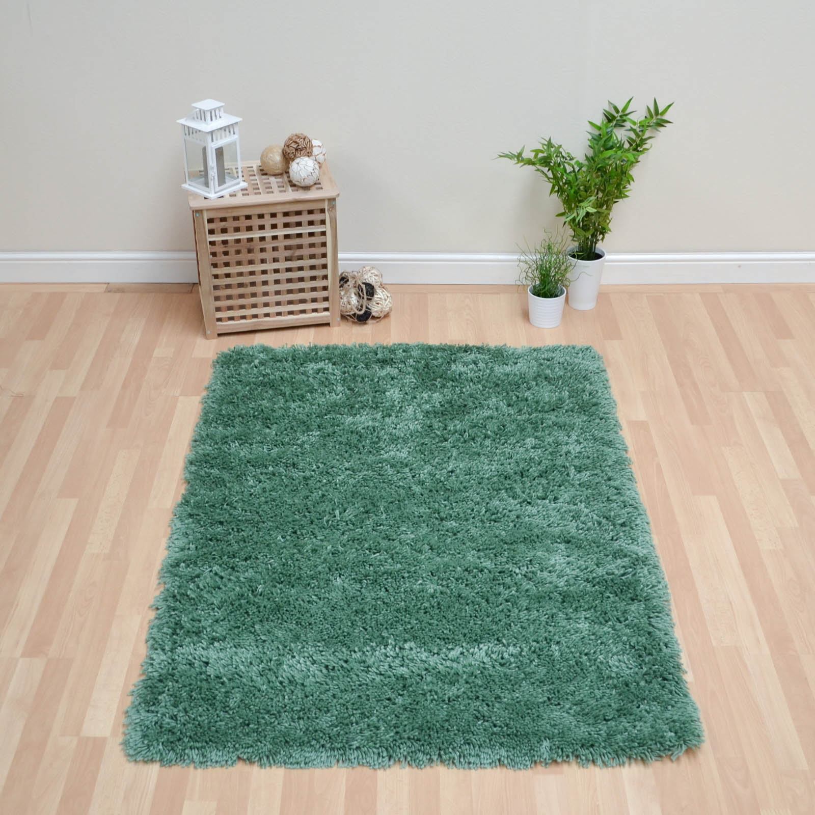 Romany Washable Rugs In Green
