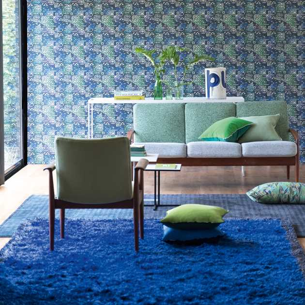 Rossolo Cobalt Rugs by Designers Guild