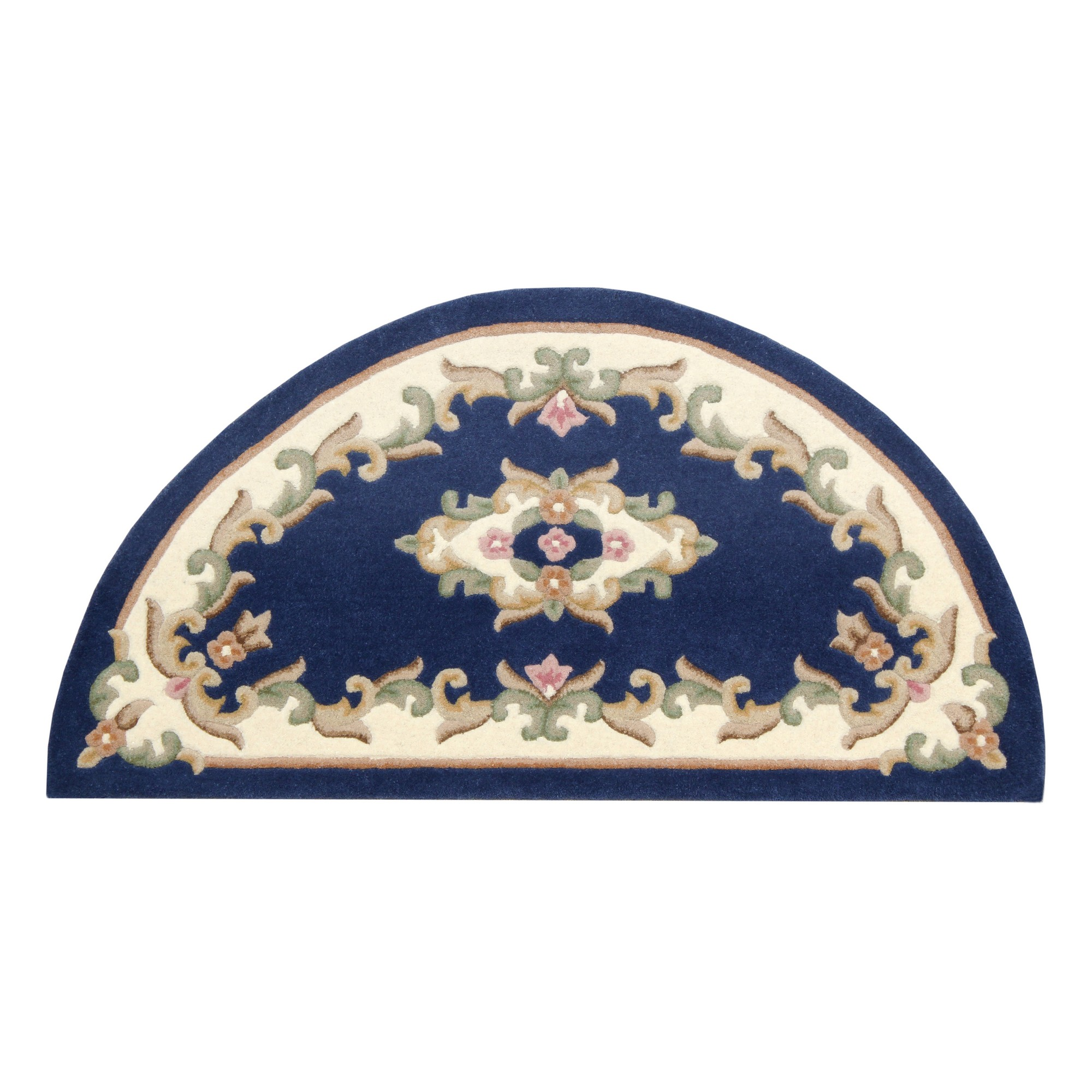 Royal Aubusson Half Moon rugs in Blue