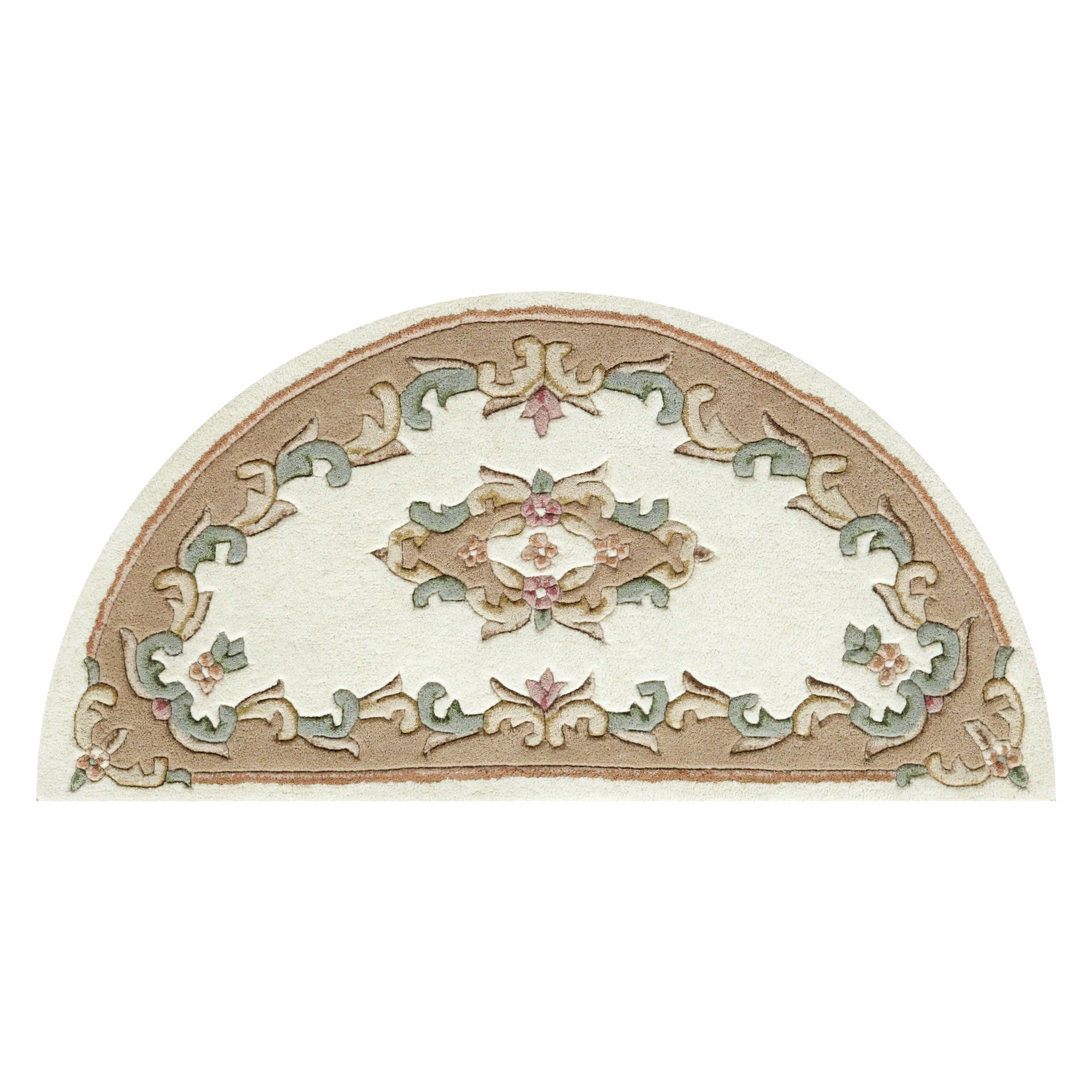 Royal Aubusson Half Moon Rugs In Cream Beige Free Uk