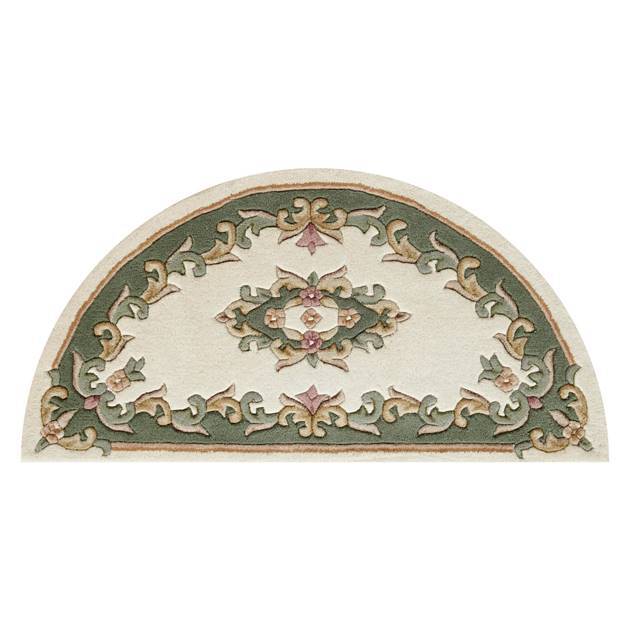 Royal Aubusson Half Moon Rugs In Cream Green