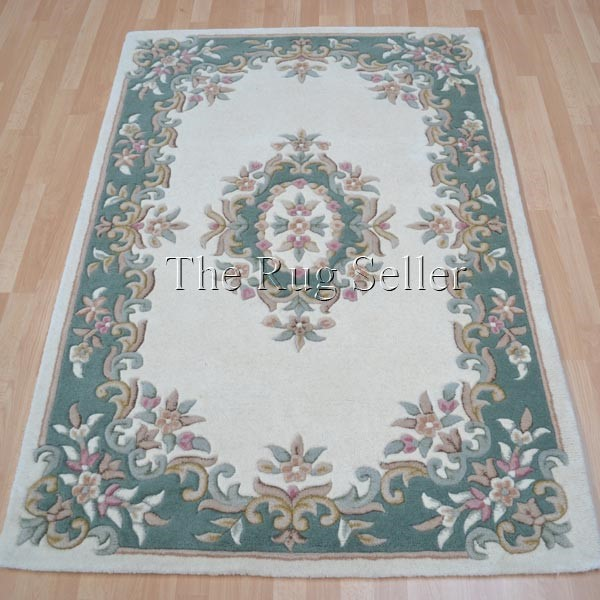 Royal Aubusson Rugs In Green Cream Buy Online From The Rug