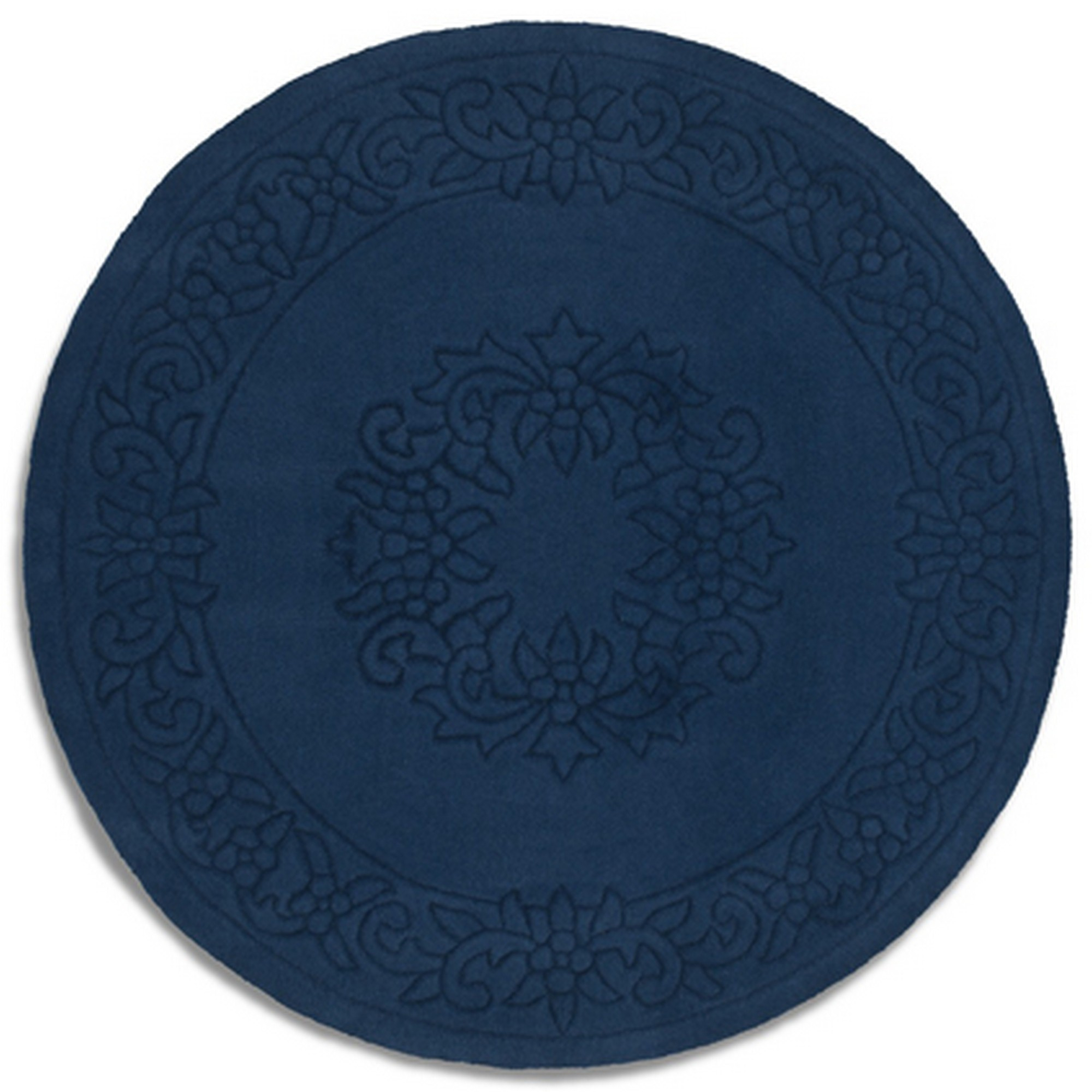 Royale Circular Rugs - Traditional Indian Wool in Blue