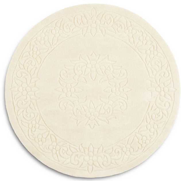 Royale Circular Rugs - Traditional Indian Wool in Ivory