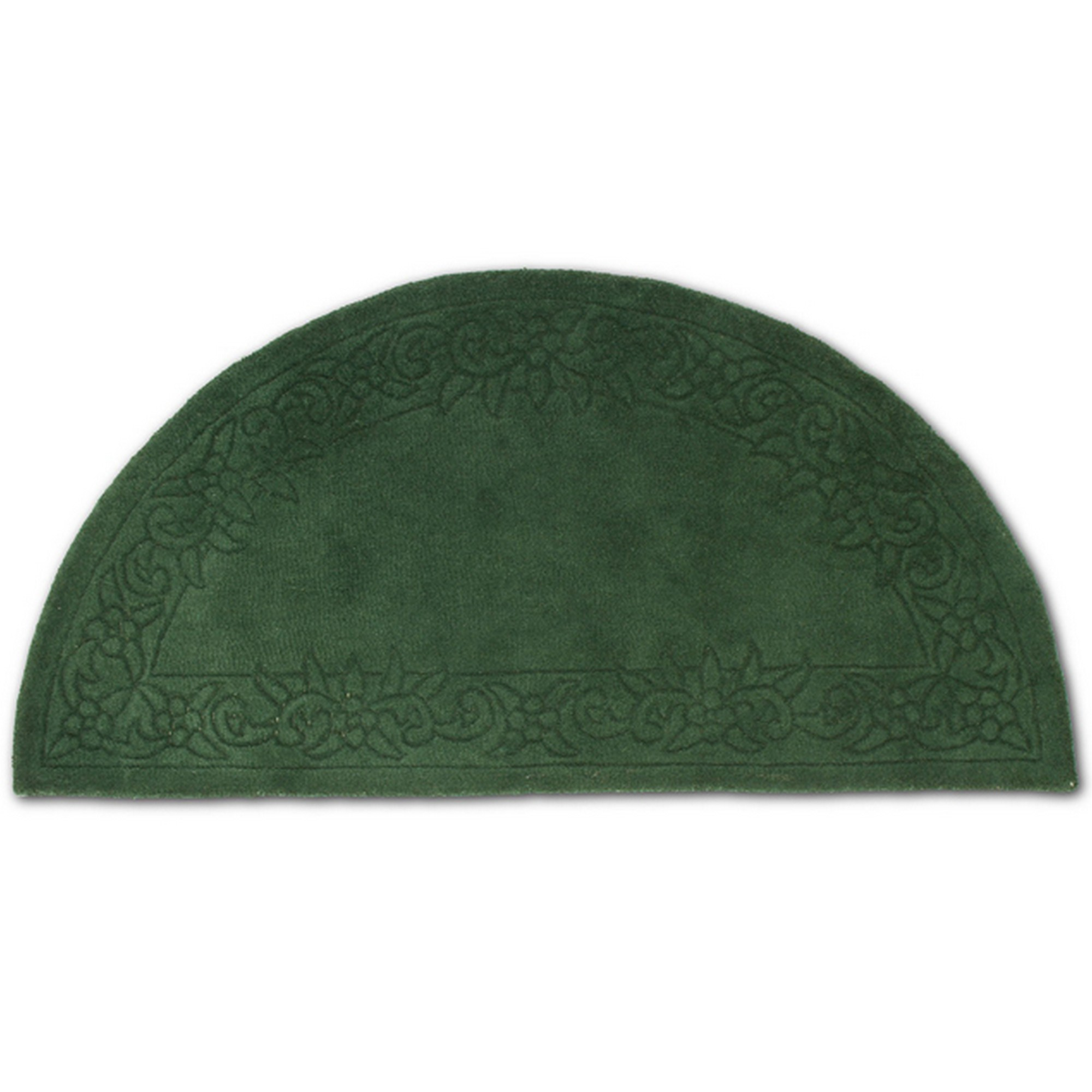Royale Half Moon - Traditional Indian Wool in Dark Green