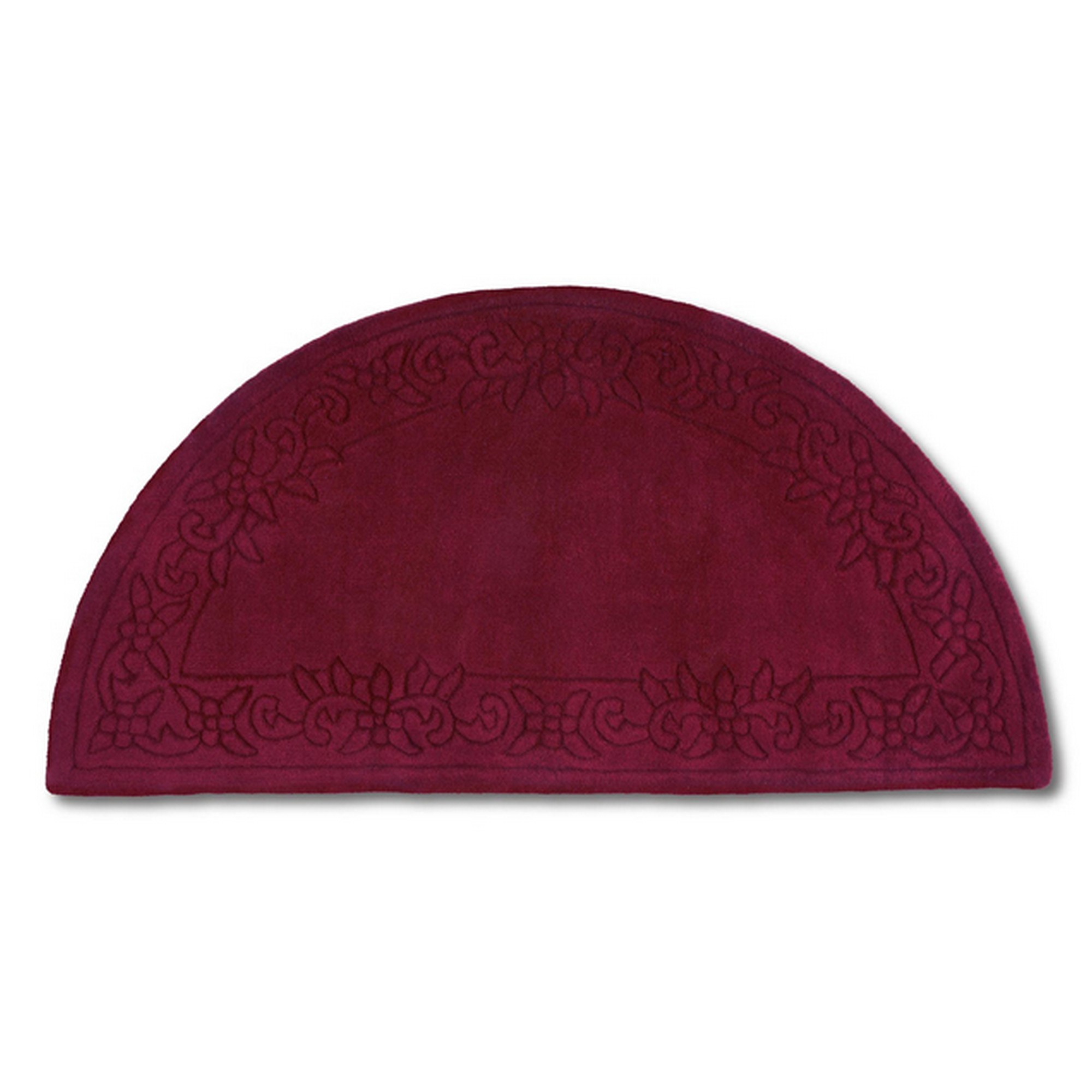Royale Half Moon - Traditional Indian Wool in Wine