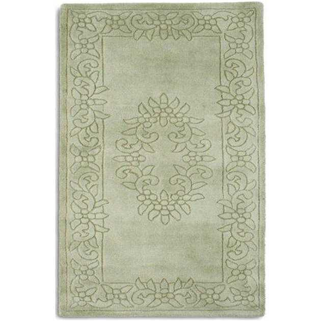 Royale Rugs - Traditional Indian Wool in Light Green