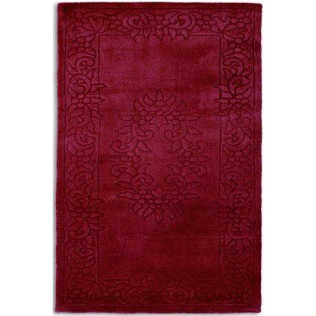 Royale Rugs - Traditional Indian Wool in Wine