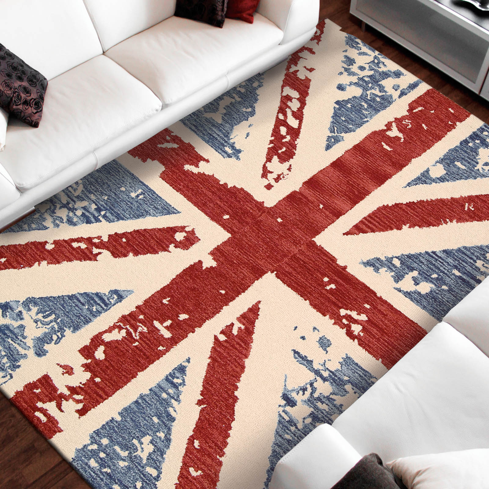 Siam Rugs SIA09 Union Jack Red