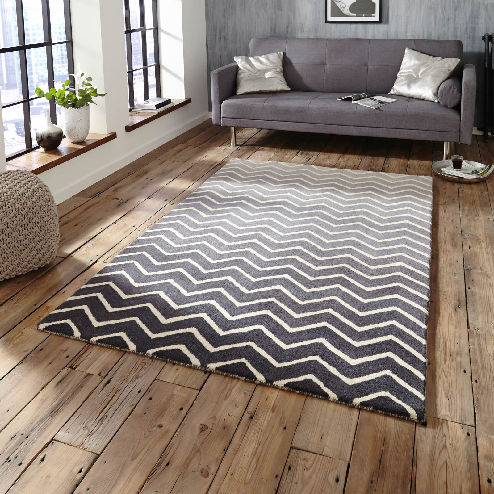 Spectrum SP22 Rugs In Grey White