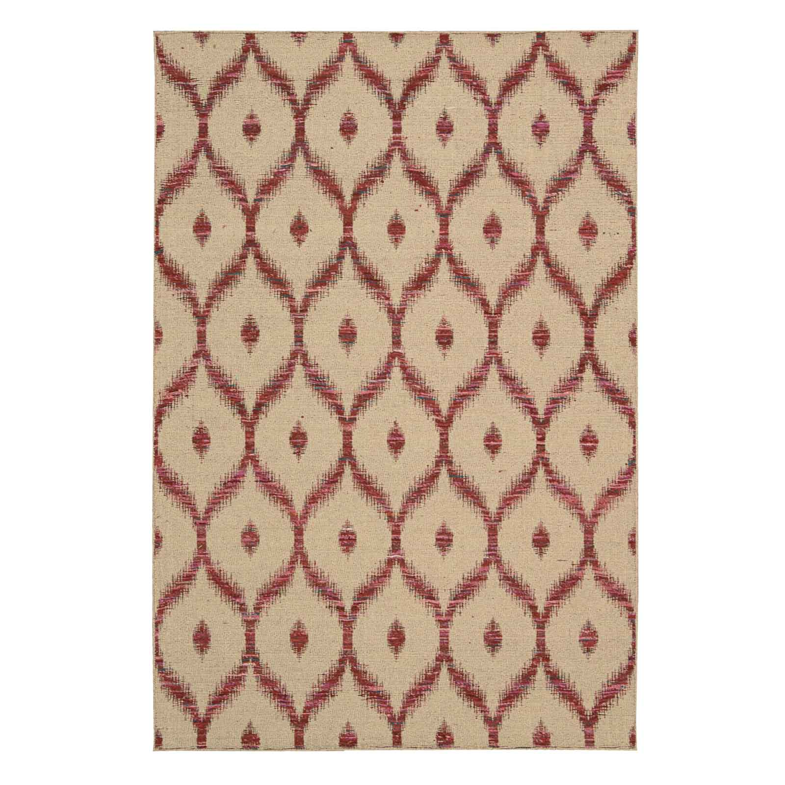 Spectrum Rugs SPE02 in Beige and Burgundy