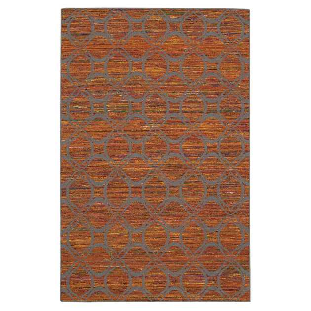 Spectrum Rugs SPE03 in Flame and Grey