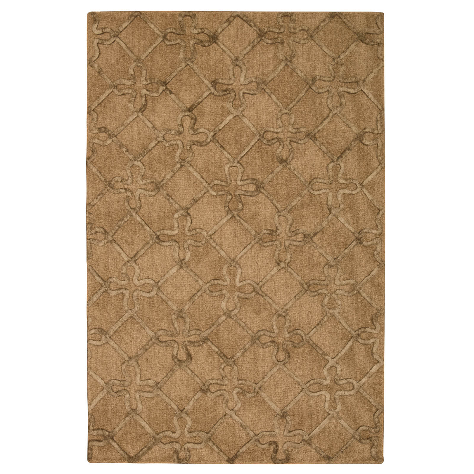 Strata Rugs STT03 in Latte and Mocha