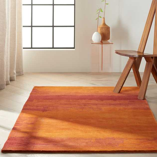 Calvin Klein Luster Wash Rugs SW01 Rust