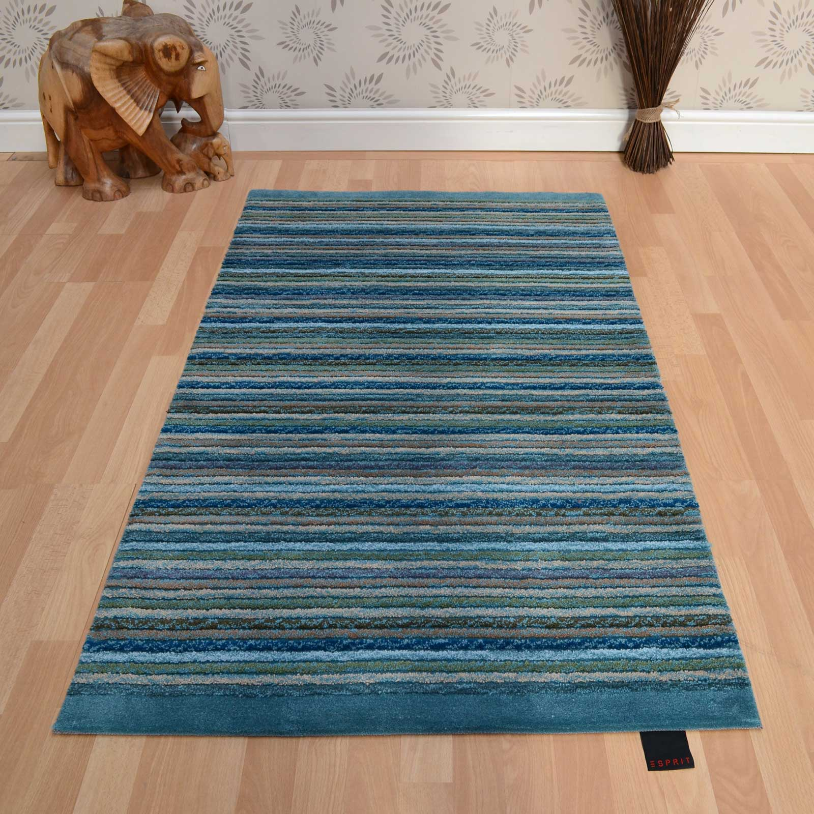 Esprit Samba Stripes Rugs 3623 06 Blue