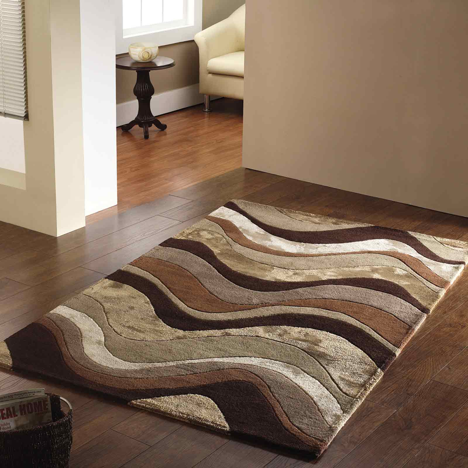 Botanical Saria Rugs in Brown
