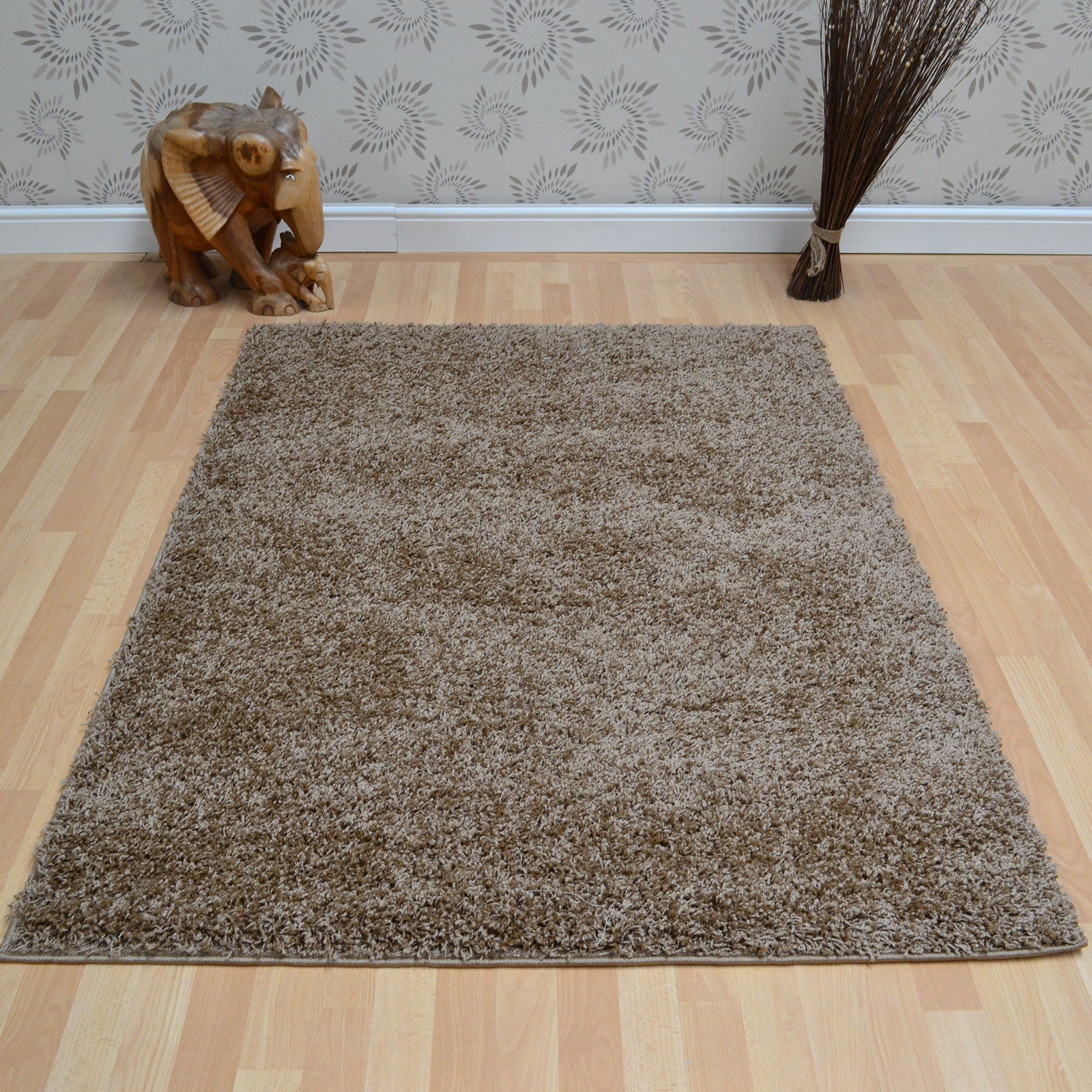 Savanna Shaggy Rugs in Mink