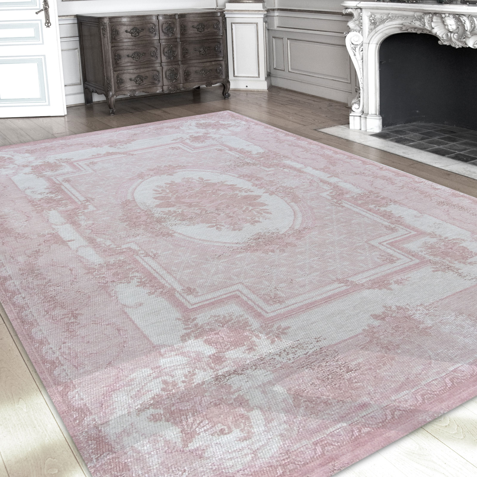 Louis De Poortere Rugs Vintage Savonnerie Cream Tea Yellow