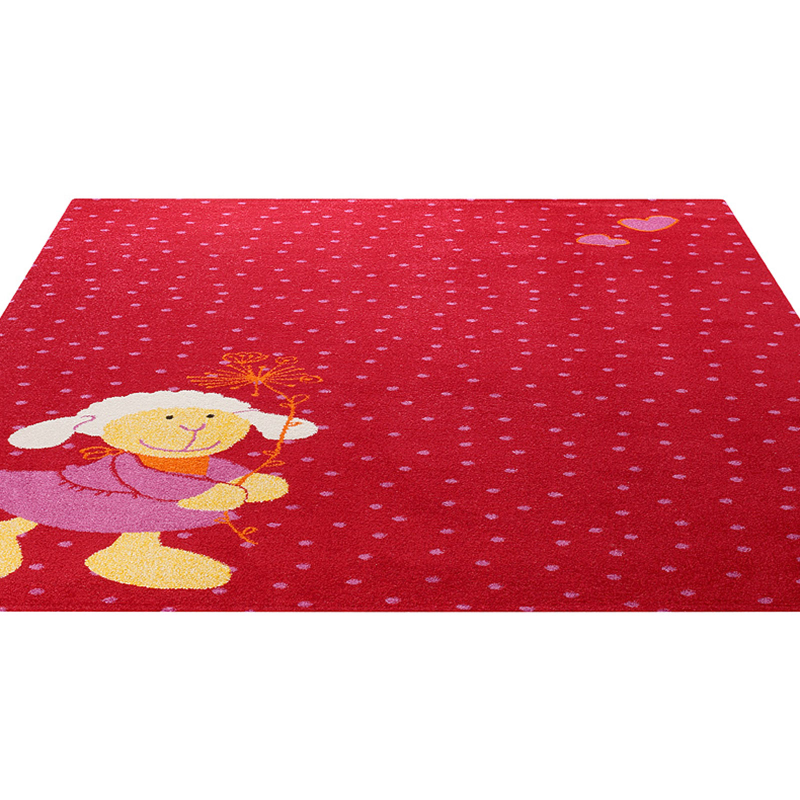 Schnuggi Rugs in Red 0524 05