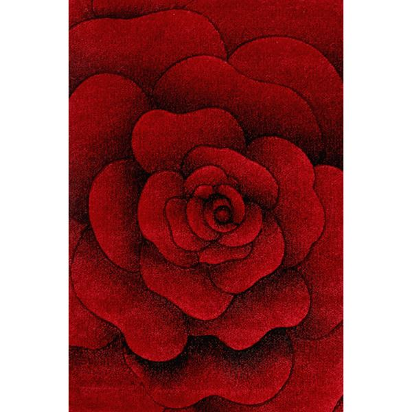 Sculptured Flower - Red