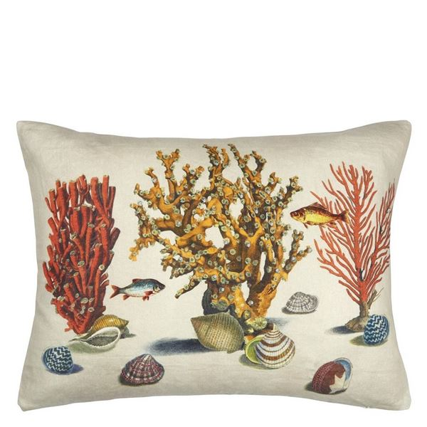 Sea Life Cushion - Coral