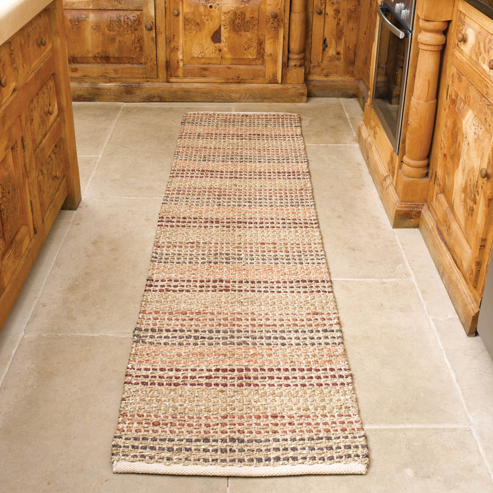 Natural Living Seagrass Hallway Runners in Terracotta