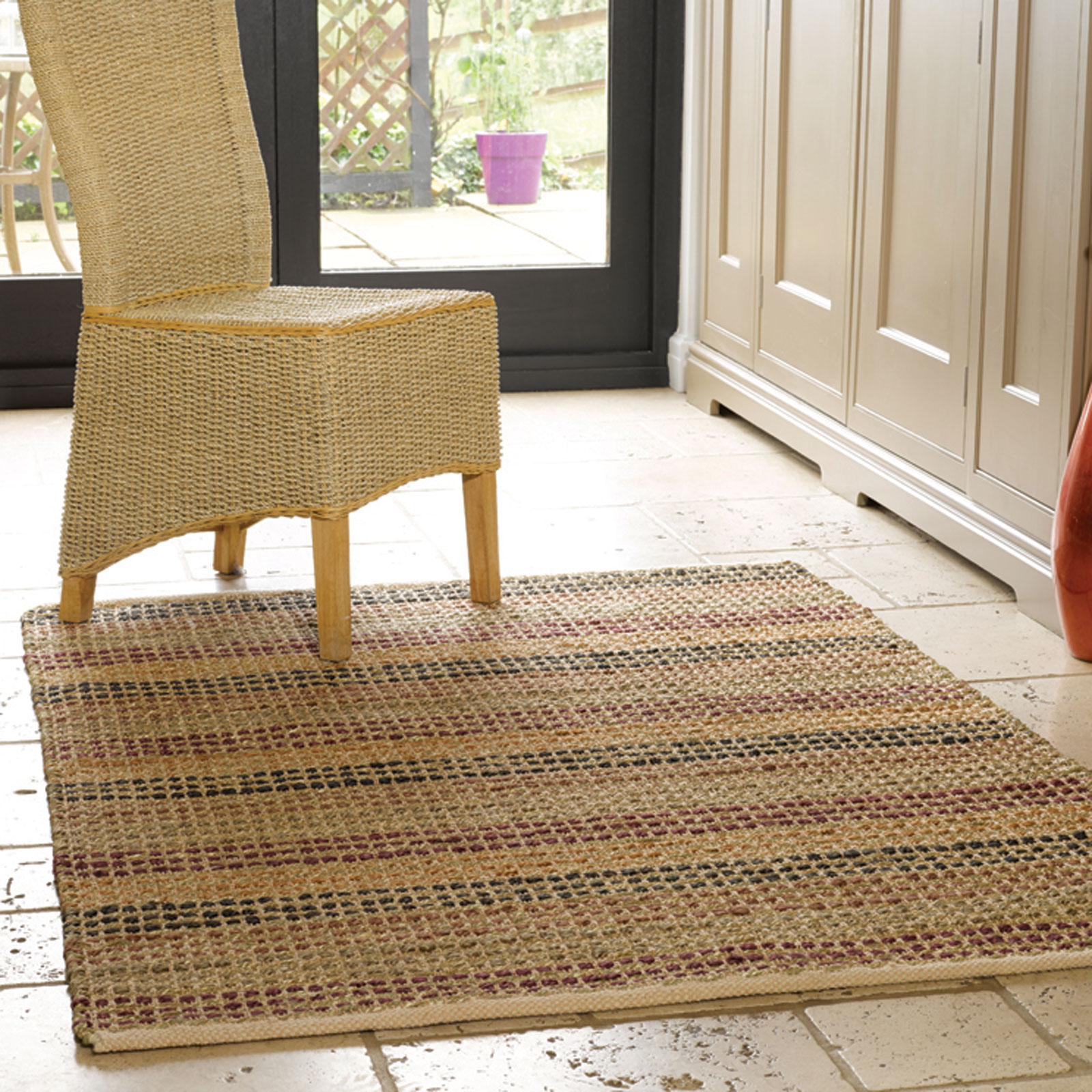 Natural Living Seagrass Rugs in Terracotta