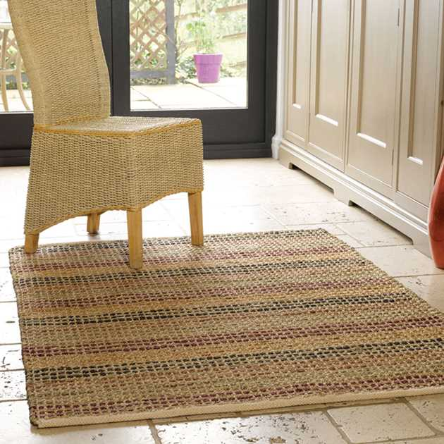 Natural Living Seagrass Rugs In Terracotta Free Uk