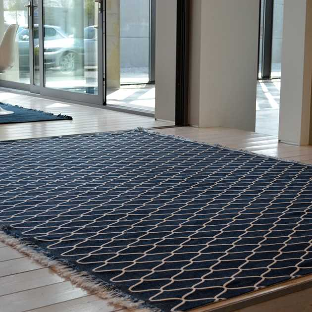 Milek Setisa Rugs DBL4 6002 in Blue and White