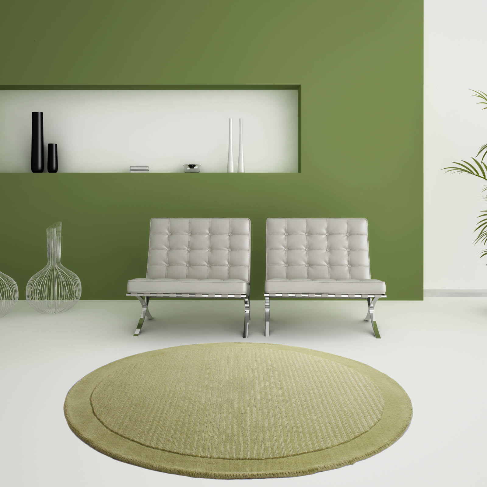 Sevilla Round Rugs in Lime